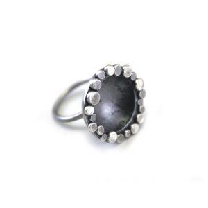 anillo cuenco de plata