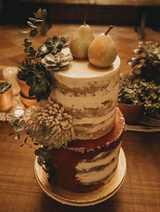 Pastel de boda original