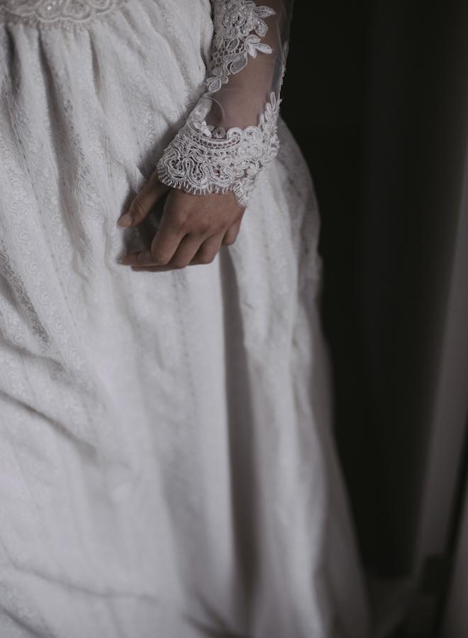 detalle del vestido de laura vila atelier