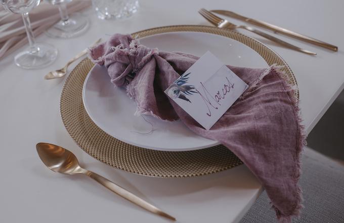 detalles de la mesa boda