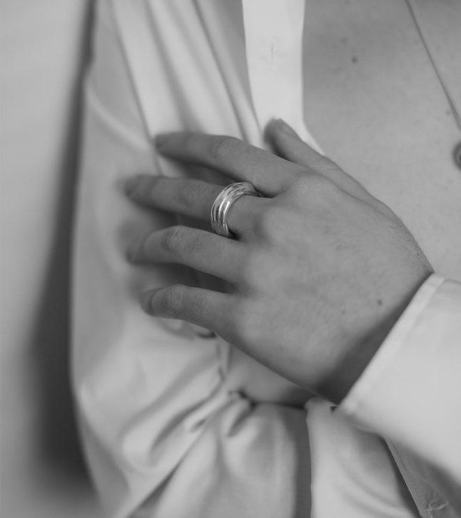 anna anillo triple joya artesanal hecha en Barcelona