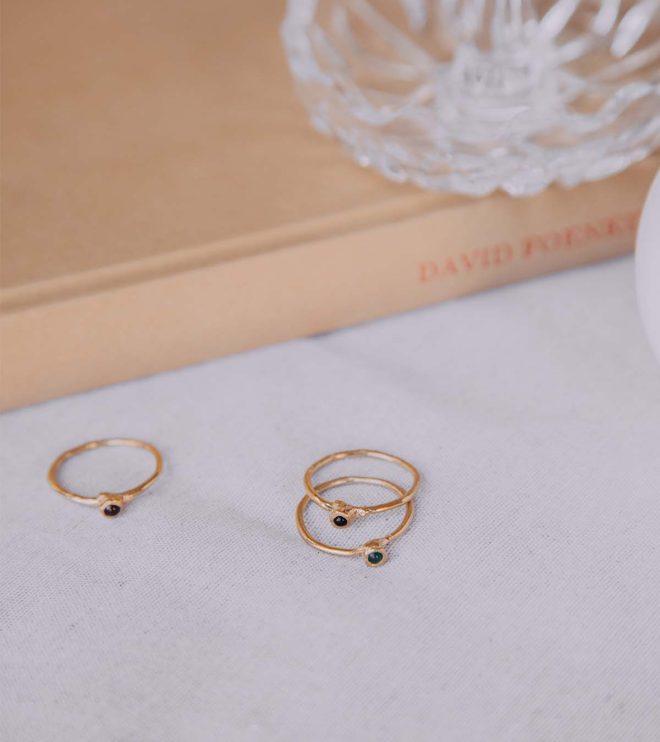 gabrielle anillos oro con agatas